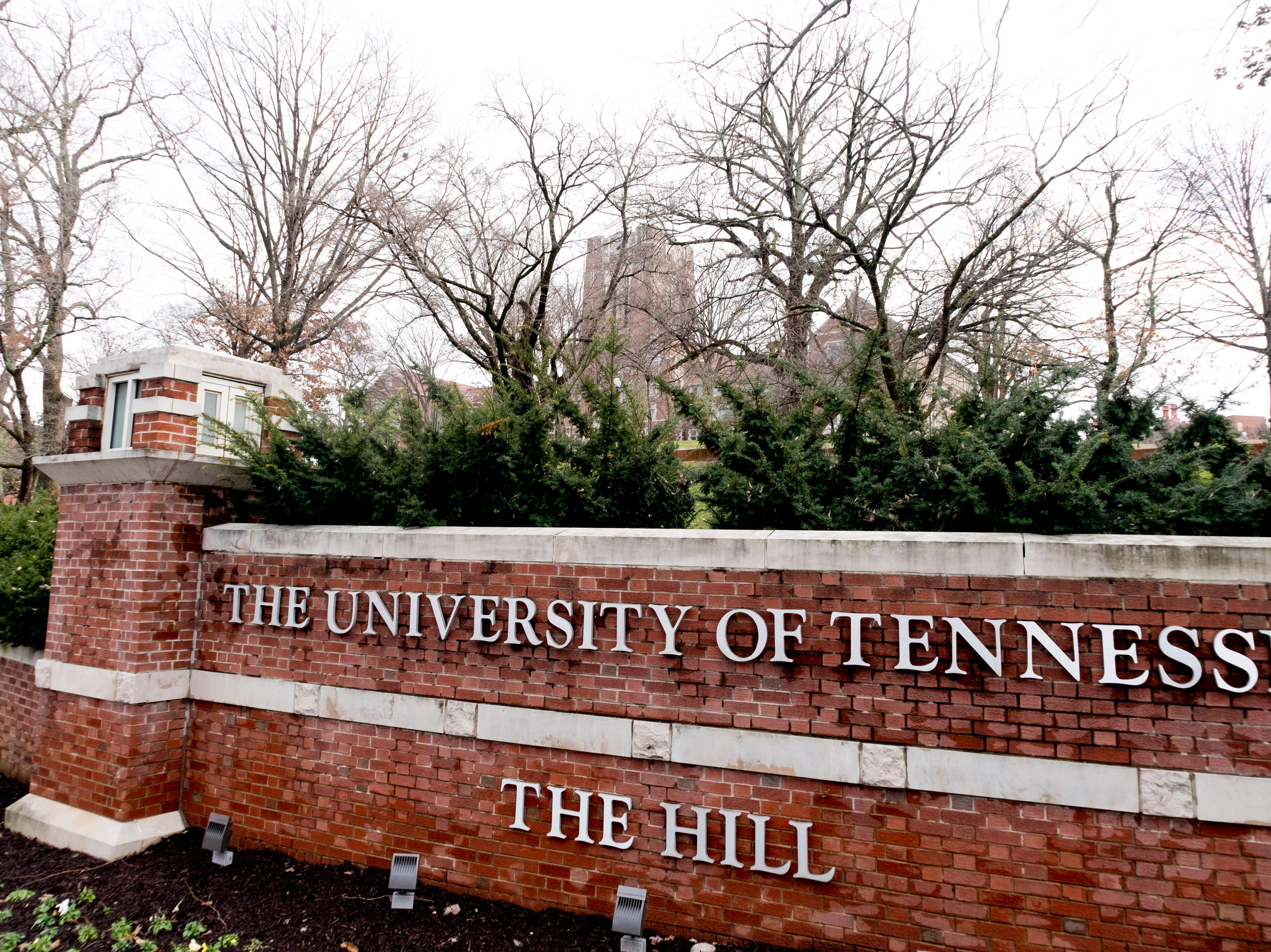 The Hill on the University of Tennessee campus in Knoxville, Tennessee on Tuesday, January 1, 2019.