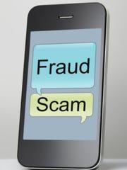 phone scam illustration