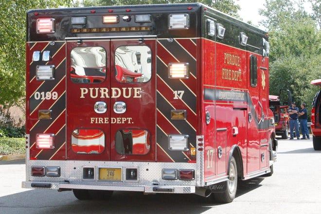 Purdue ambulance or Purdue paramedics illustration