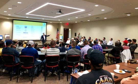 Bilfinger Salamis Inc. hosts its annual company meeting at the University of Louisiana at Lafayette on Jan. 3, 2019.