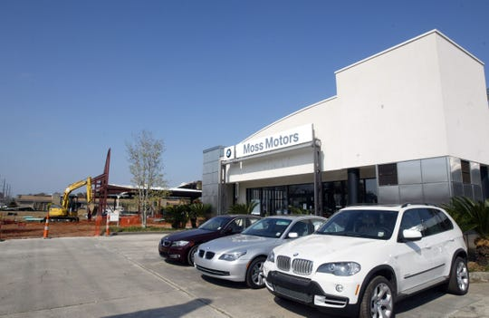 Construction is underway on the new $5 million BMW facility at Moss Motors Monday afternoon.