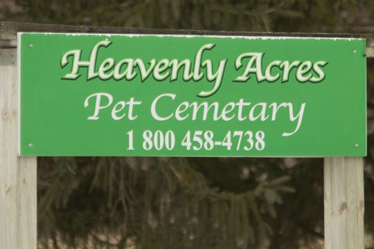 "Heavenly Acres Pet Cemetery has a ""no trespassing"" sign posted on its driveway, as found Thursday, Jan. 3, 2019."
