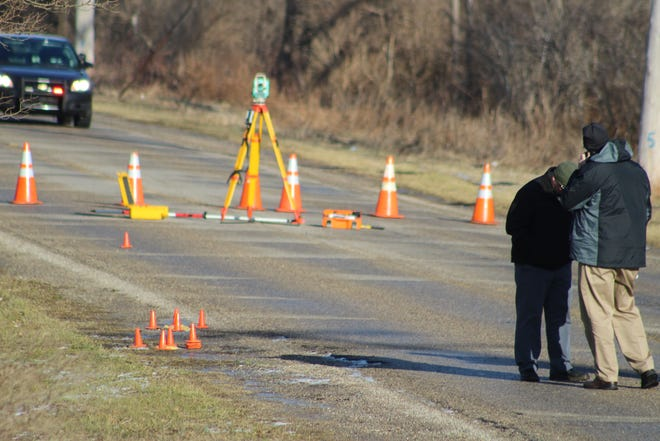 Eaton County Sheriff's Office deputies investigate a suspicious death on Old Lansing Road in Delta Township Thursday, Jan. 3, 2019.