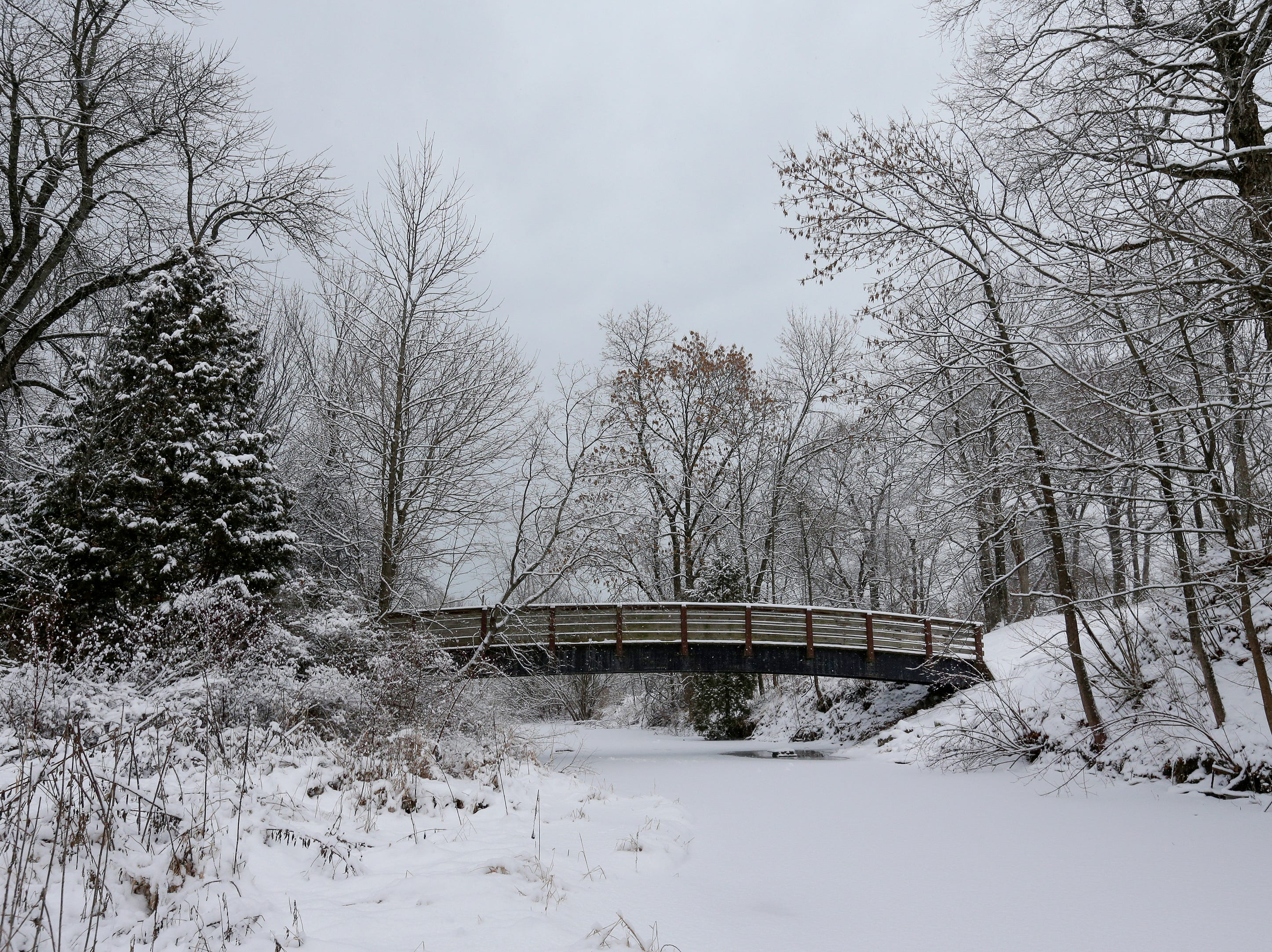 Silver Creek Park during a snowfall Wednesday, January 2, 2019, in Manitowoc, Wis. Joshua Clark/USA TODAY NETWORK-Wisconsin