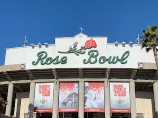Attending the Rose Bowl parade and game is something that is now scratched off Brenda Donegan's bucket list.