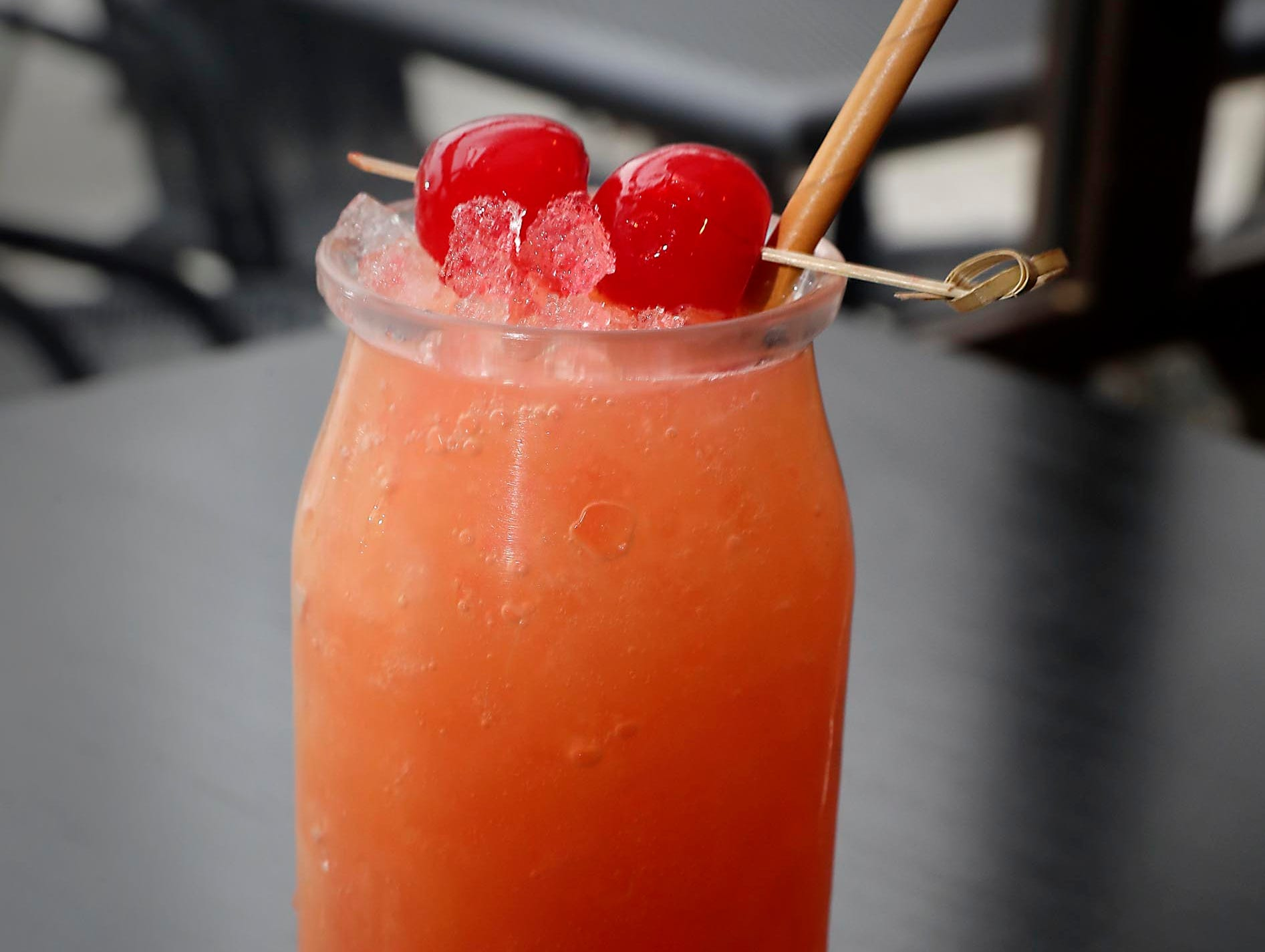 SmallPie has mixed drinks for the grownups. Some are brunch-oriented, like the PieMosa (a mimosa with Door County cherry juice).