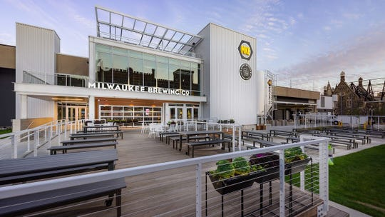 Venue Forty Two's building design allows guests to enjoy indoor and outdoor seating.