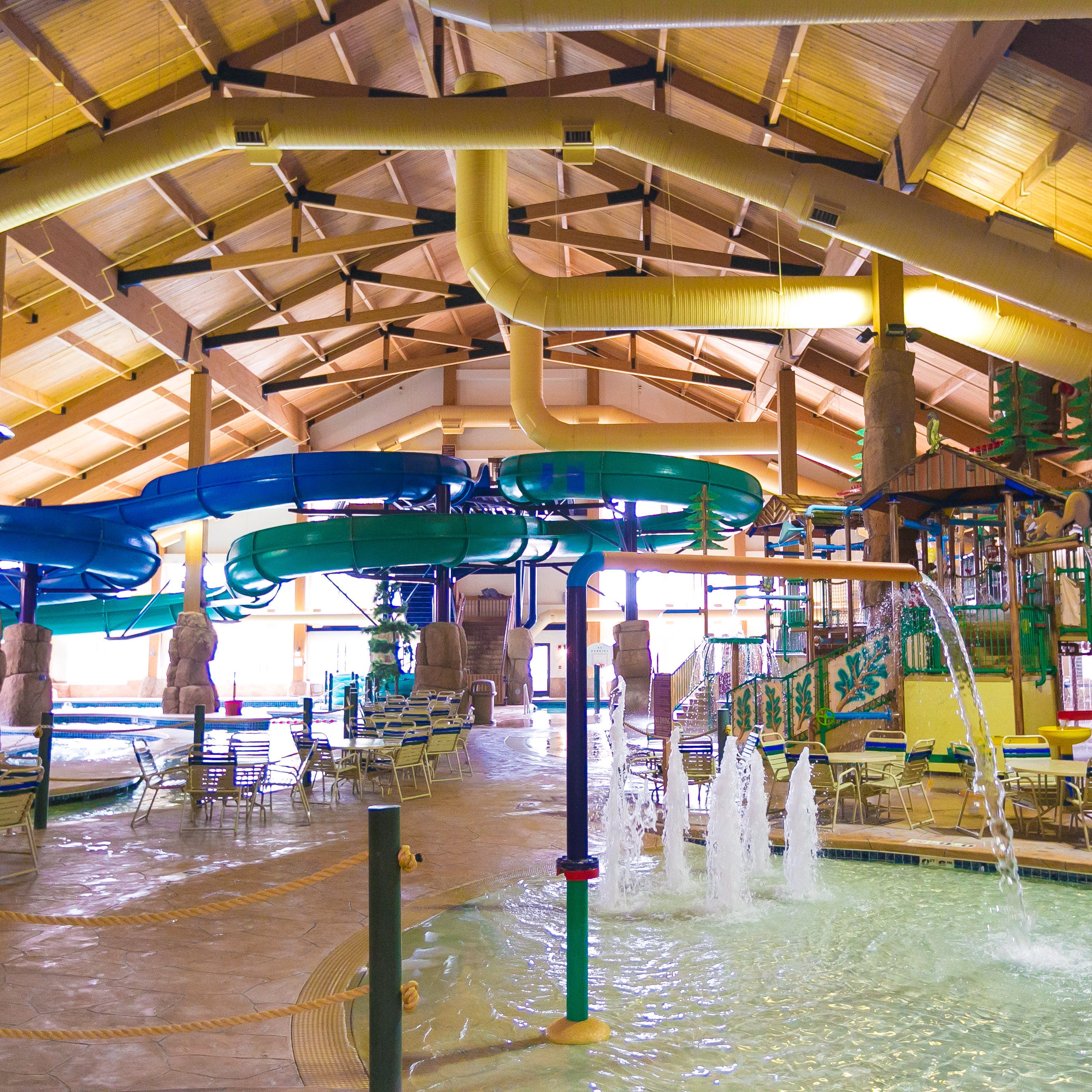 Indoor waterparks provide a dose of the tropics in a Midwest winter
