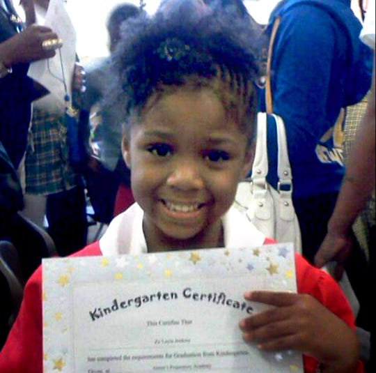 Za'layia Jenkins was 9 when she was fatally shot. A stray bullet tore into the interior of a relative's house in 2016 and hit her. Za'layia was caught in the crossfire of two rival groups armed with rifles and pistols. Police recovered more than 40 shell casings from the scene.