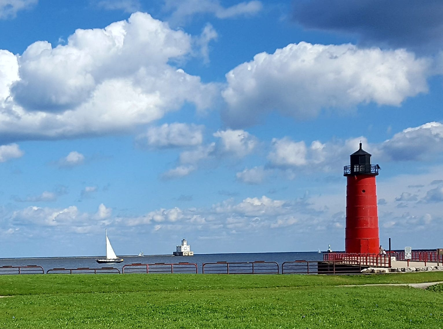 Confluence of the Kinnickinnic River and Lake Michigan, Milwaukee.
