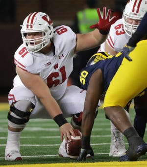 Redshirt sophomore Tyler Biadasz has started 27 straight games at center for Wisconsin.