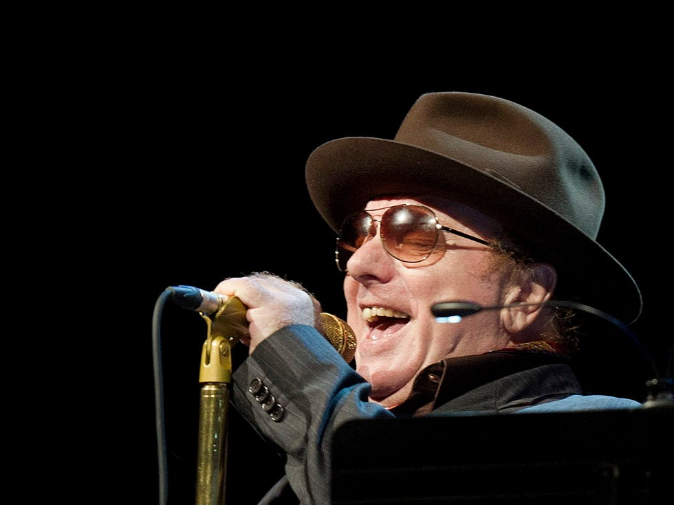 Musician Van Morrison from Northern Ireland performs on the Stravinski Hall  stage during the 46th Montreux Jazz Festival, in Montreux, Switzerland, Saturday, July 7, 2012. (AP Photo/Keystone/Jean-Christophe Bott) ORG XMIT: MON102