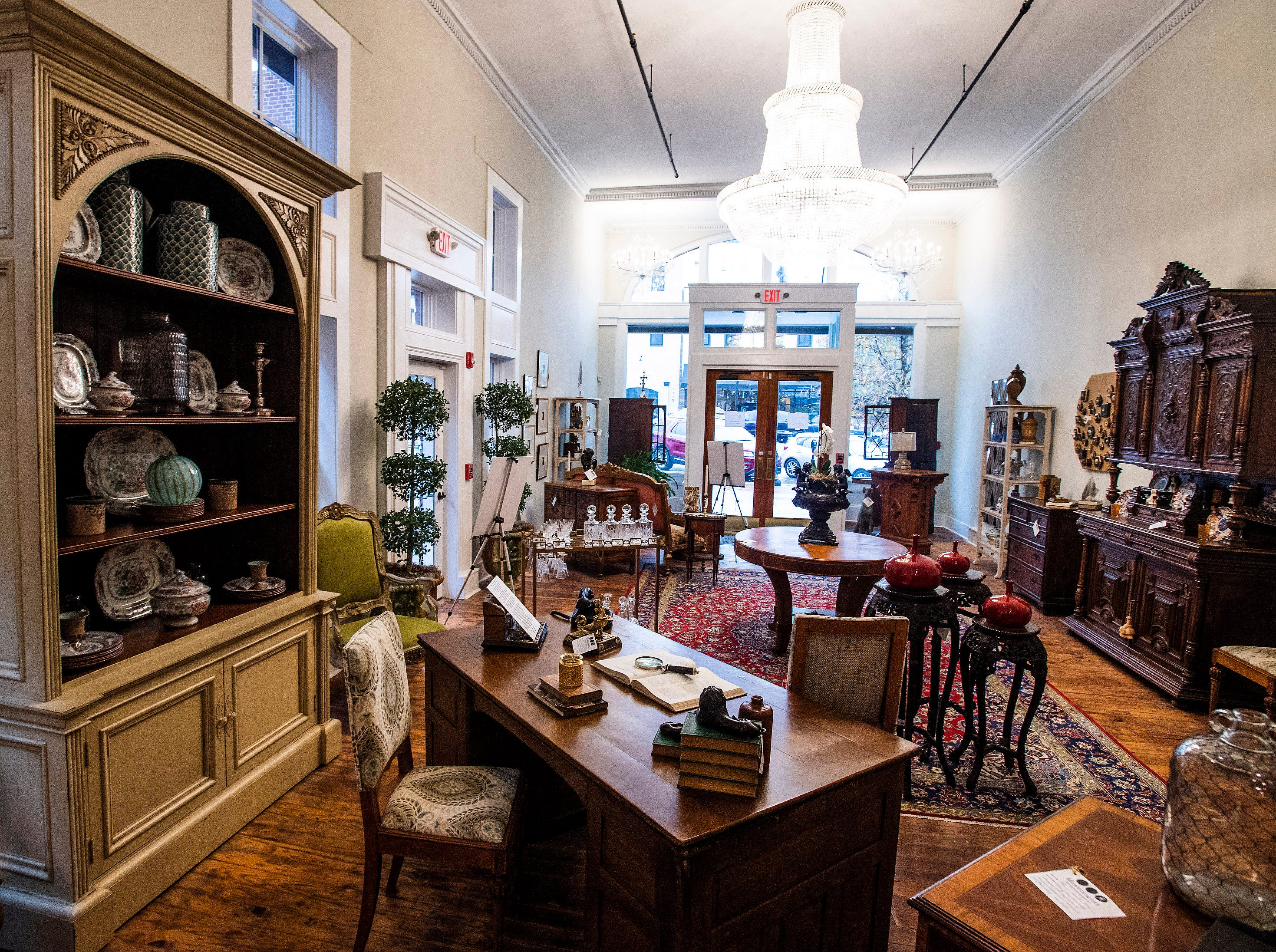 The soon to be opened Montgomery Antiques and Interiors location on Dexter Avenue in downtown Montgomery, Ala., is seen on Thursday January 3, 2019.
