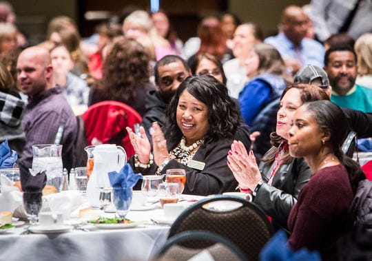 Hundreds of MCS teachers and staff attended the teacher Appreciation Luncheon at the Horizon Convention Center Thursday afternoon. In addition to the free meal, the event featured live music from the MCHS Jazz Band and prize giveaways.