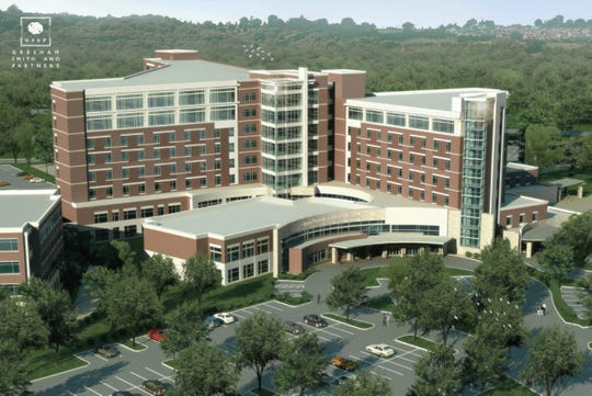 Saint Thomas Rutherford Hospital has started construction on its vertical expansion project, which will add three floors and 72 beds to the west patient tower of the hospital.