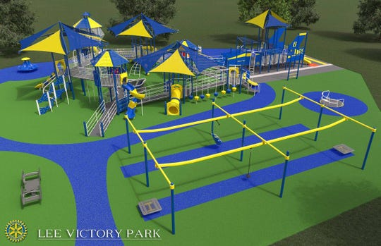Smyrna Rotary is partnering with the town of Smyrna to build an all-inclusive playground at Lee Victory Park.