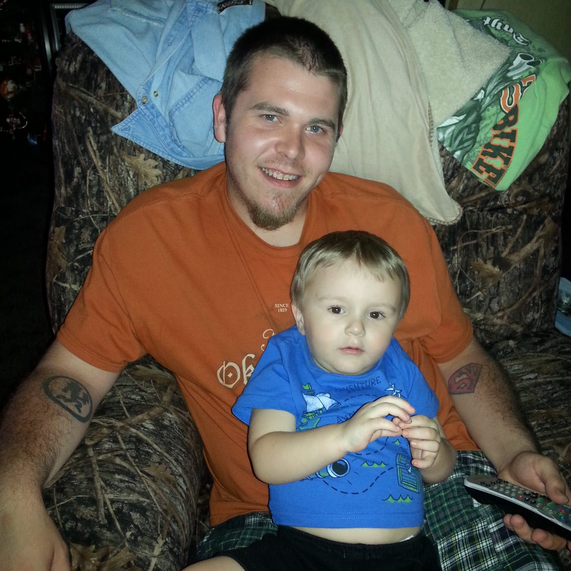 Mathew Blackburn, 27, seen here with his son Eli, is one of five patients of Dr. Darrel Rinehart to die from drug overdoses in less than a year. Blackburn died on March 5, 2015, two days after he got a new, stronger prescription from Rinehart.