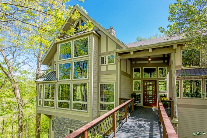 The home at 6314 Panorama Drive in Brentwood is not your typical Brentwood home, with three stories perched on a wooded 11 acres.