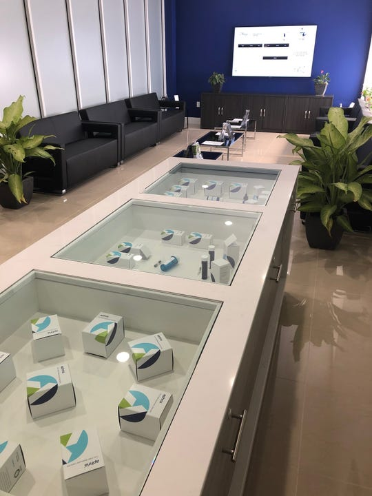 The interior of a Liberty Health Sciences medical marijuana dispensary that recently opened in Miami.