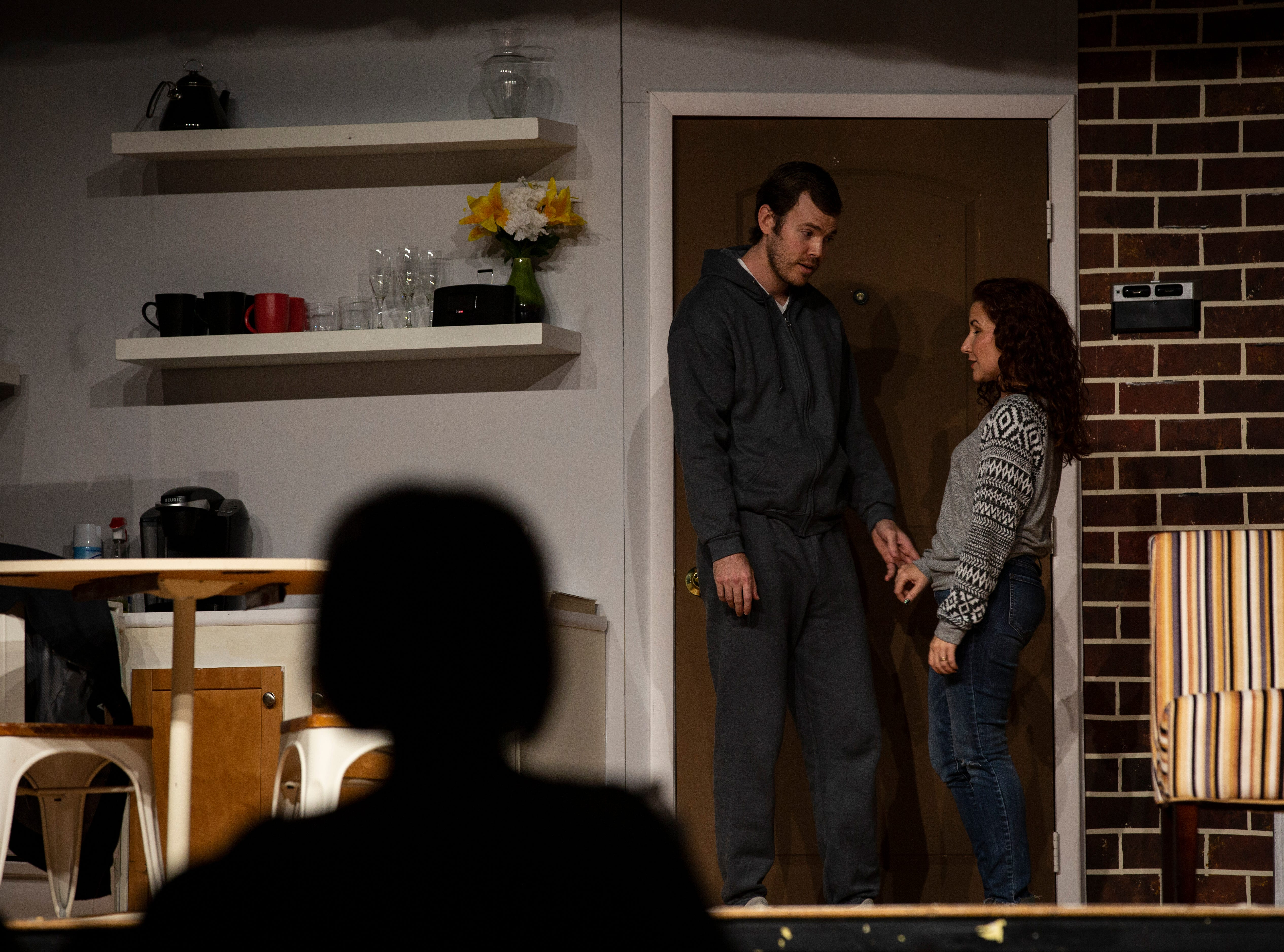 "Actors Marshall Prater and Karen Anglin rehearse Lanford Wilson's play ""Burn This"" on Wednesday,  Jan. 2, 2019,  at the Golden Gate Community Center. The Studio Players production directed by Scott Lilly will premiere Friday, Jan. 11, 2019."