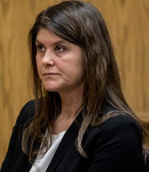Kristen Grow reacts as Judge Branstool sentences her to 24 months in prison for having sex with her student at Northridge High School last year. Grow pleaded guilty to the charge of sexual battery. After her release from prison she will have to register as a tier III sex offender for the remainder of her life.