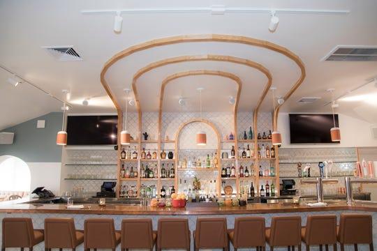 The bar in Somos in North Arlington