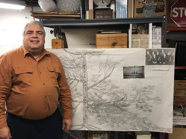 Joe Tarakjan of Fair Lawn created a family tree that spans six generations
