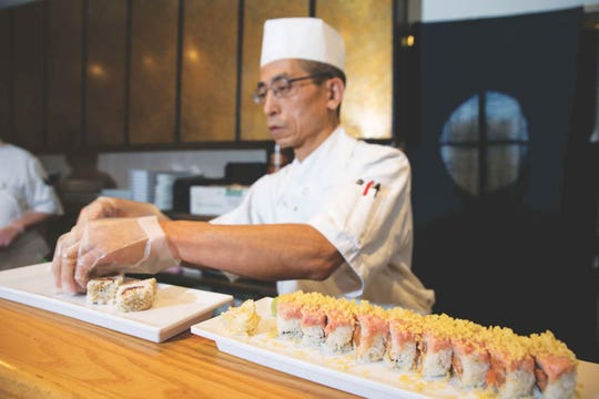 At Sakura Bana, sushi chefs work their magic at lunch and dinner.