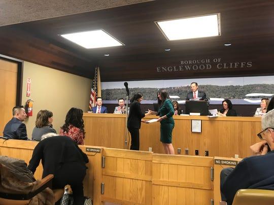 Englewood Cliffs Councilwoman Deborah Tsabari was honored by Bergen County WEDO, a women's political group, on Jan. 3, 2019.