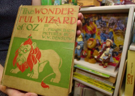 """The Wonderful Wizard of Oz"" was published in 1900"