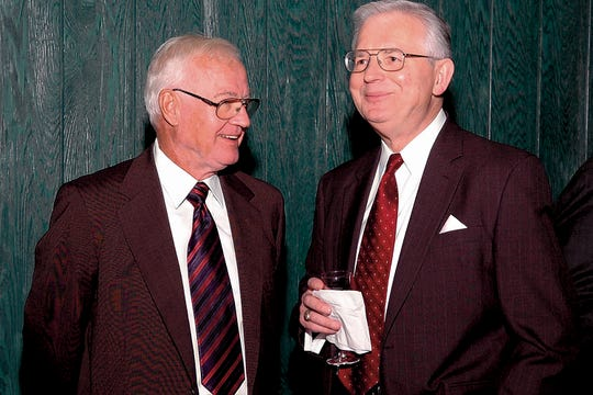 David F. Bolger, left, November 2006.
