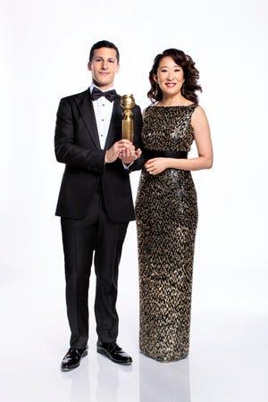 Andy Samberg and Sandra Oh will host the 76th Golden Globe Awards Sunday, Jan. 6 on NBC.