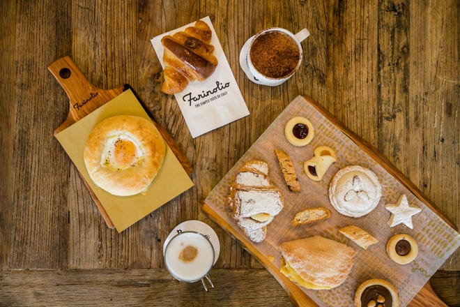 A vareity of pastries and coffee drinks are available at Farinolio.