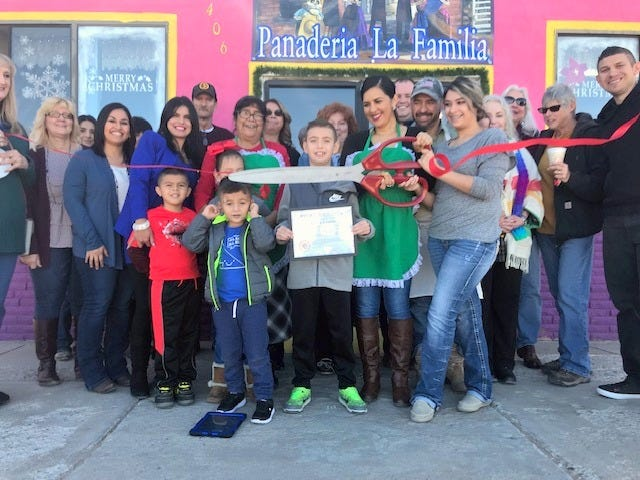 The Deming-Luna County Chamber of Commerce welcomed a new business to Deming on Dec. 14, 2018 with a traditional ribbon-cutting ceremony. Panaderia la Familia is a family-owned and operated bakery located at 406 E. Poplar St. Panaderia la Familia offers a wide variety of pastries, coffee and home-made tamales. Business hours are 6 a.m. to 1 p.m. and 2 to 6 p.m. Monday through Friday, and from 6 a.m. to 3 p.m. on Saturdays.