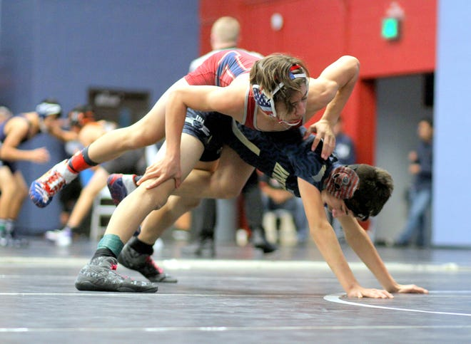 Freshman Davy May (top) is coming off a 4-1 outing at Silver High School on Wednesday. He will lead the Deming High lightweights at 120 pounds for Saturday's District 3-5A dual against Gadsden High at DHS.