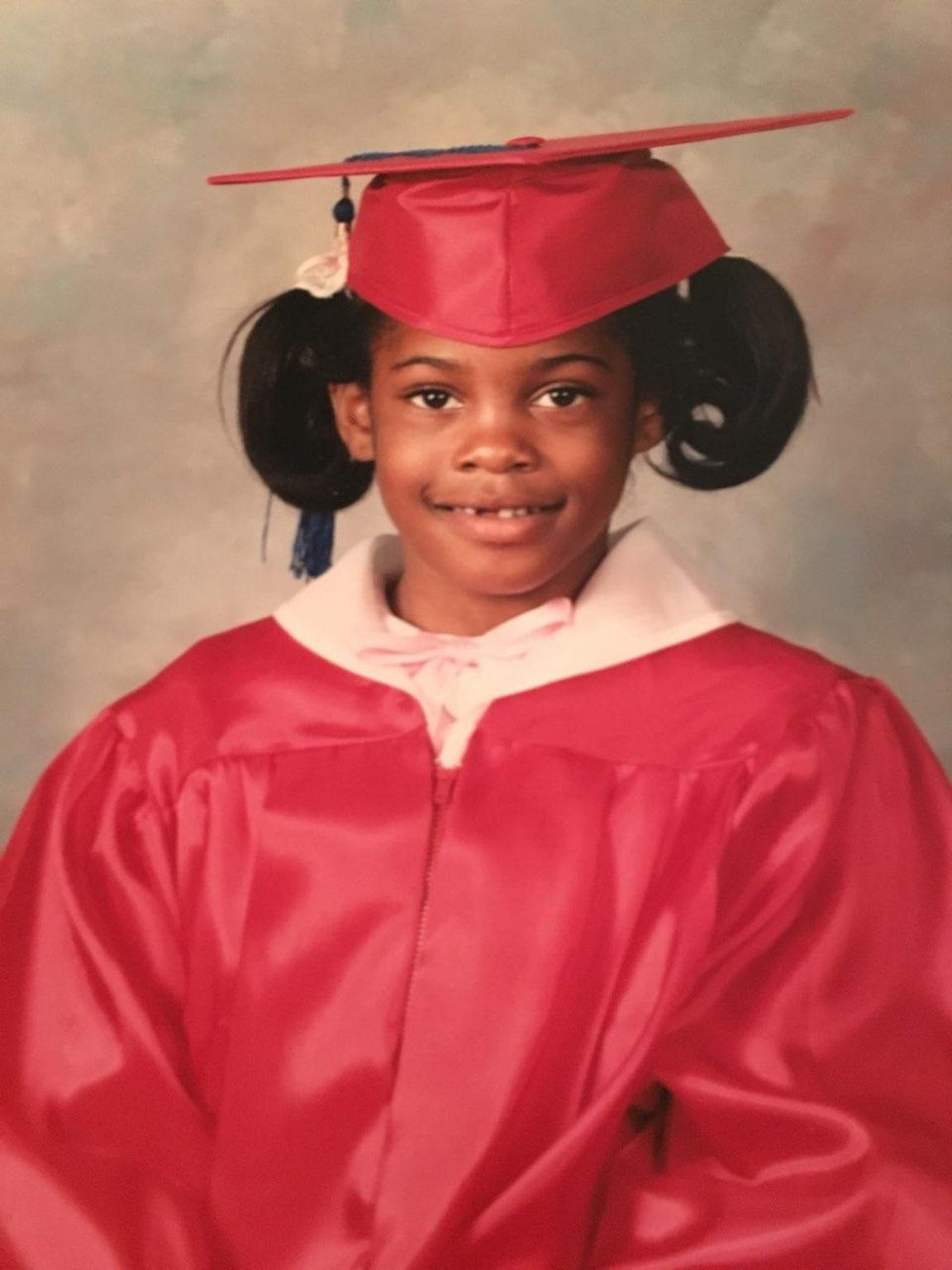 Christina Freeman (then Lewis), age 4, graduating from Head Start in 1986.