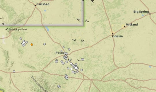 The USGS recorded 66 earthquakes in West Texas and Southeast New Mexico since January 2018.