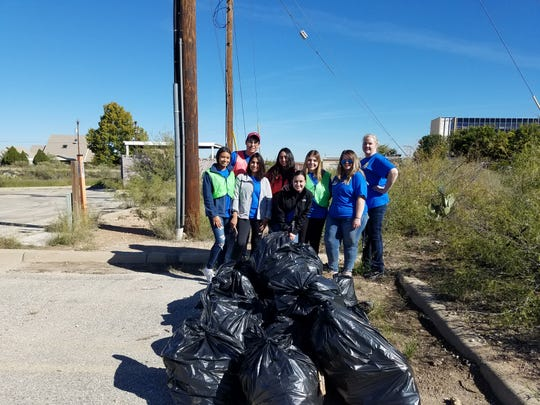 Keep Carlsbad Beautiful and Carlsbad's Early College High School picked up 22 bags of trash near the Carlsbad Mall during the United Way Day of Caring Nov. 2, 2018.