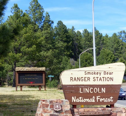 Smokey Bear Lincoln National Forest Sign