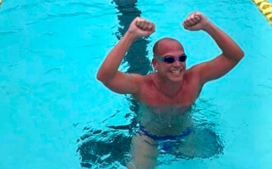 Steve Erickson completes his record-setting swim