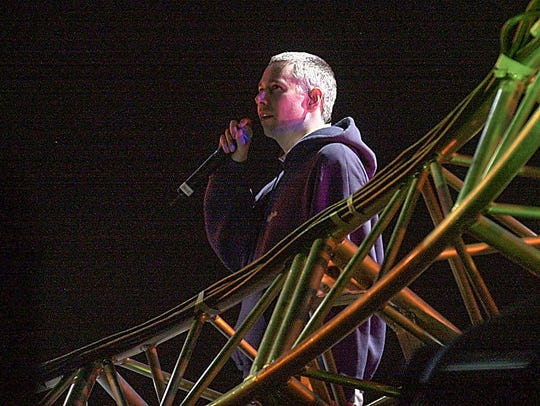 Adam Yauch of the Beastie Boys perfoms at Coachella in 2003.