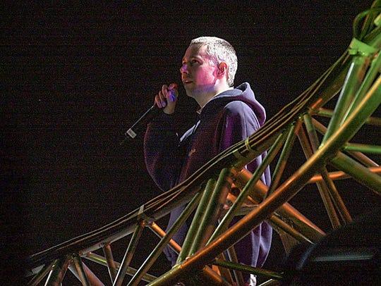 Adam Yauch of the Beastie Boys perfoms at Coachella in 2003.