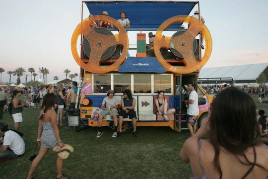 Music lovers at the 2011 Coachella Valley Music and Arts Festival at the Empire Polo Club, Saturday, April 16, 2011.