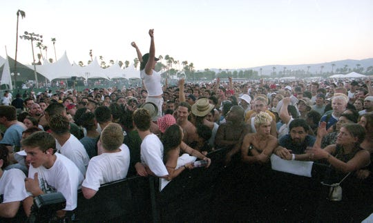 Crowd shot near the main main stage at Coachella, taken October 10, 1999. Desert Sun file photo.
