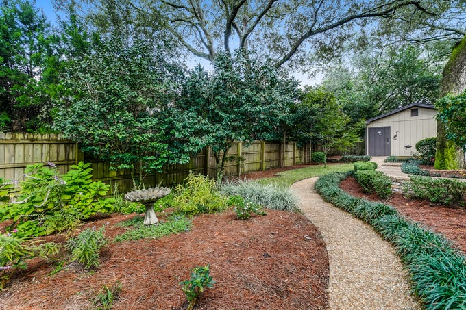 2700 Endor RoadThe backyard is a lush, private space to relax and entertain.