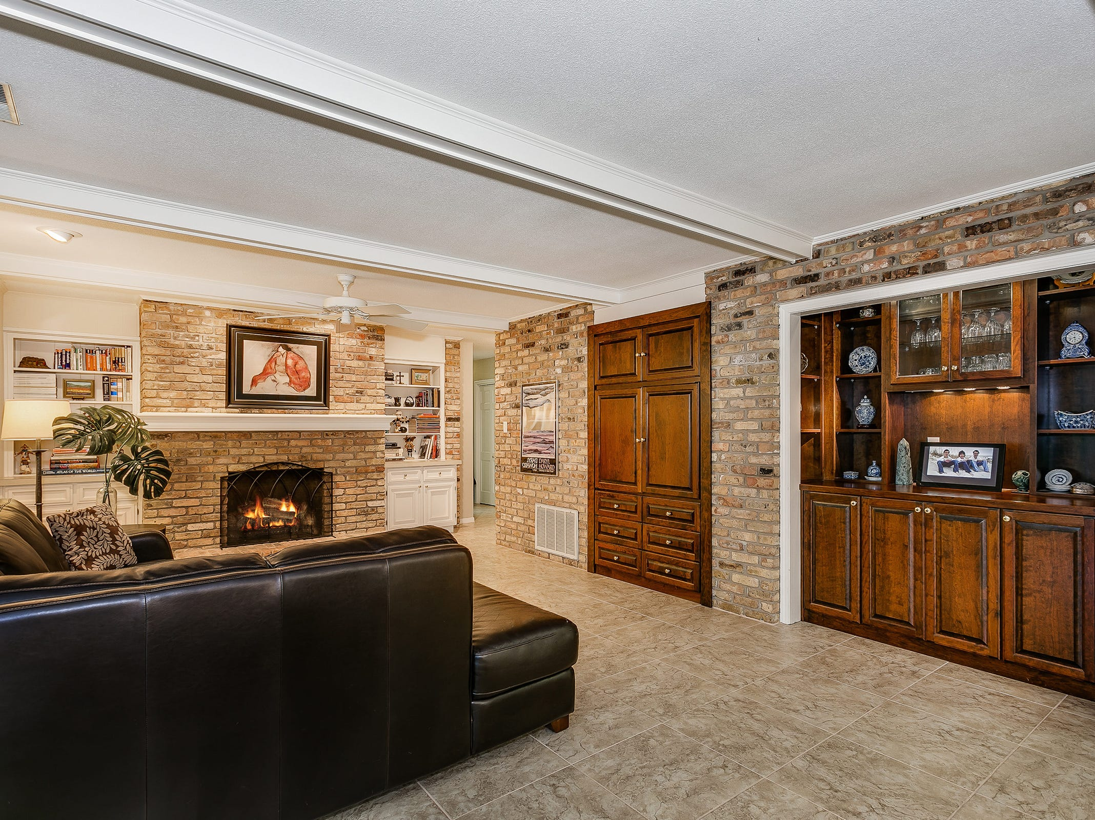 2700 Endor RoadThe spacious family room with a fireplace.