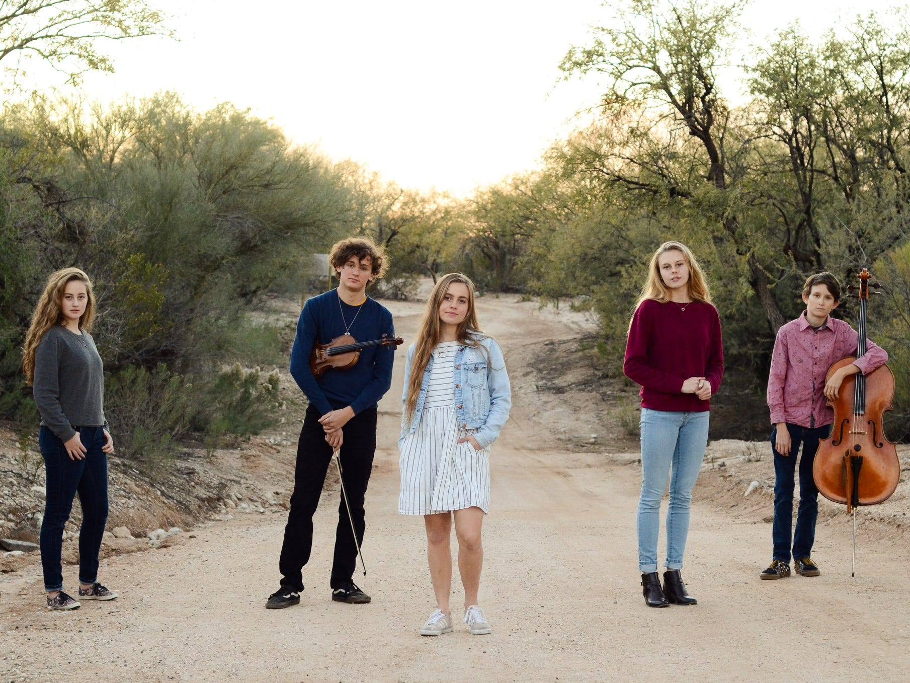 Copper Wren (left to right): Alivea Addleman, 14; Will MacDonald, 17; Ava Addleman, 18; Angel Addleman, 17; Lee MacDonald, 14.