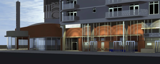 A rendering of the future downtown Phoenix Snooze, an A.M. Eatery.