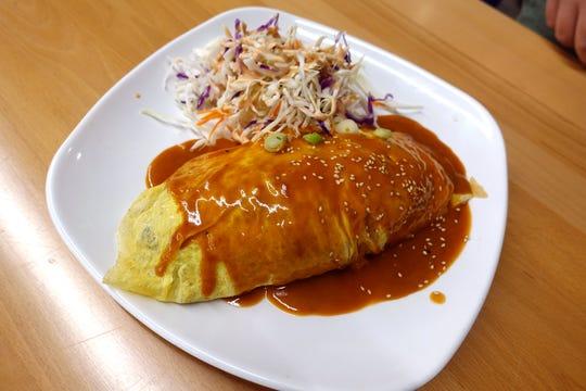 Curry omurice at Katsu at Asiana Market in Mesa.