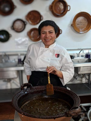 Marta Villanueva was a student at the Art Institute of Phoenix, which closed in December 2018. She's shown here at a culinary program in Mexico.